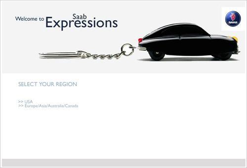 Saab Expressionsホームページ