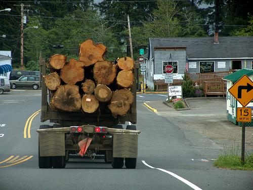 greenz/グリーンズ Logging Truck on US 101 in Oregon