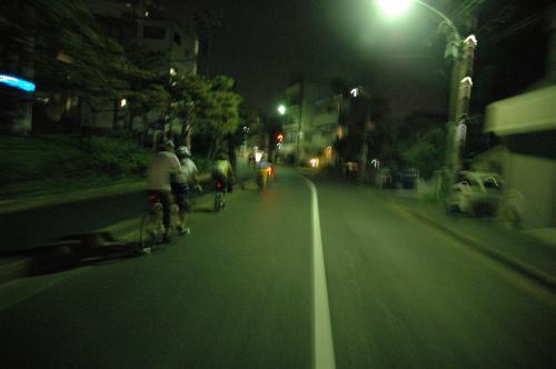 (c) TOKYO DESIGN FLOW. Night Pedal Crusingの様子。