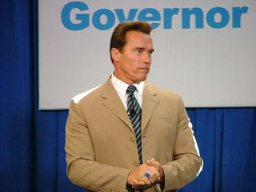Arnold Schwarzenegger: Creative Commons. Some Rights Reserved. Photo by George