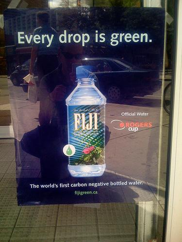 Ad for Fiji Water: Creative Commons. Some Rights Reserved. Photo by sweetone