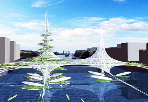 Vertical Farm for London Bridge: Copyright(C)2009 Chetwood Architects, All rights reserved. (Worshipful Company of Chartered Architectsブログより抜粋)