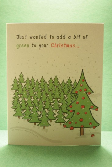 Green Christmas Card: Copyright(C)2009 Treenex, All rights reserved.