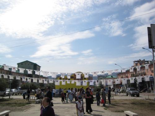 2009年モンゴル・ウランバートルでの展示の様子