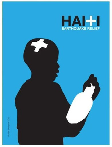 Haiti Earthquake Relief Blue: Copyright (c) 2010 Michael Thompson.  All Rights Reserved.