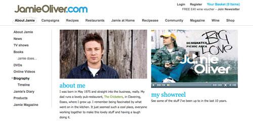 Jamie Oliver   http://www.jamieoliver.com