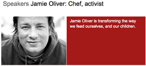Jamie Oliver, Profile on TED.com
