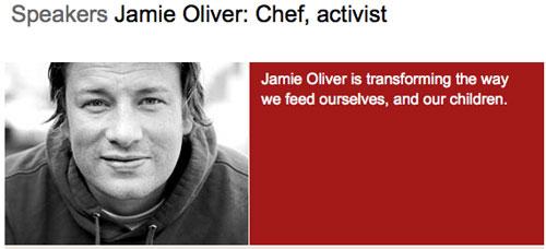 Jamie Oliver, Profile on TED.com