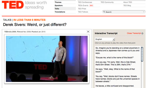 TED: Derek Sivers: Weird, or just different?