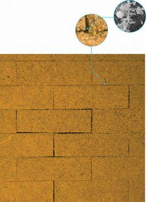 この製造方法なら、モルタルなどの接着剤を使わずに複数のレンガをつなぐこともできるそうです。