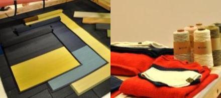 TATAMO! プロジェクトのタタミヨガマットと、木玉毛織のガラ紡タオル