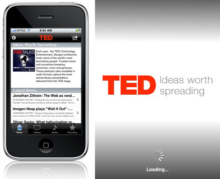 TED on iPhone