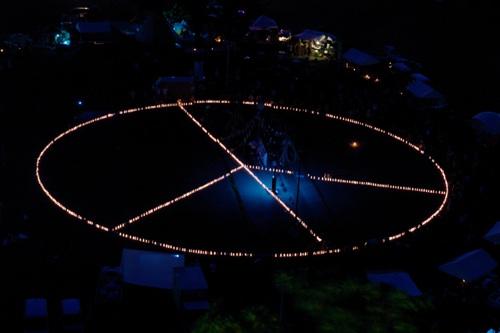 キャンドルピースマークの夜景2009版