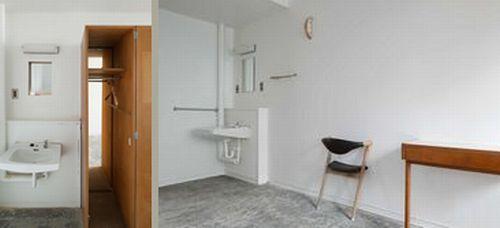 LLOVEクリエイティブチーム+長坂常による客室。(左)#312(右)#314 隣室と空間がつながっているデザインが斬新です。どんな人がお隣さんなのかつい想像しちゃうかも!