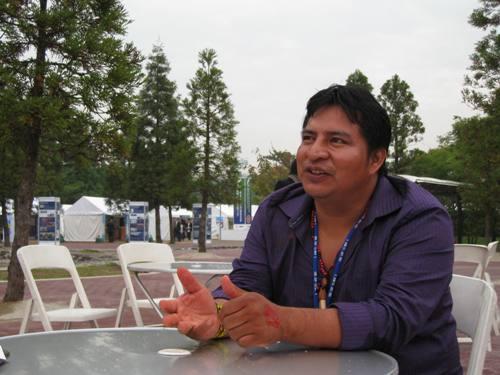 ヤナワナ族のチーフ、タシュカ・ヤナワナ氏