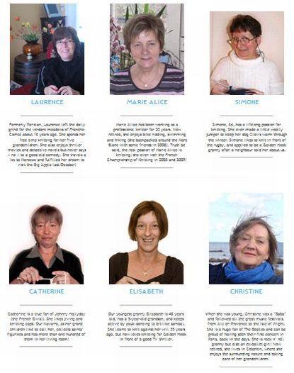 おばあちゃんを紹介するページには、編み物経験はもちろん、家族や好きな音楽について等が書かれています。