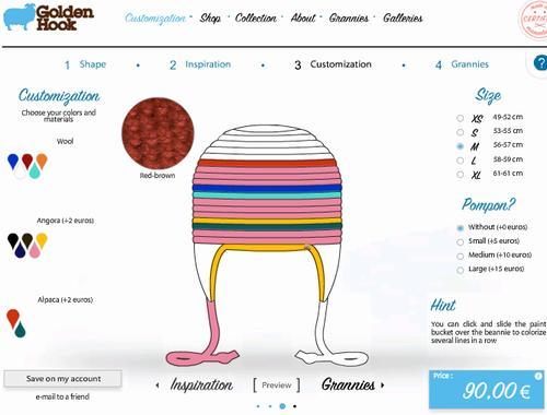 デザインが選べるものでも、色、サイズ、素材は、サイト上で簡単にオーダーできます。