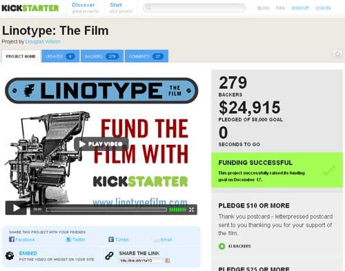 greenz/グリーンズ kickstarter Linotypw