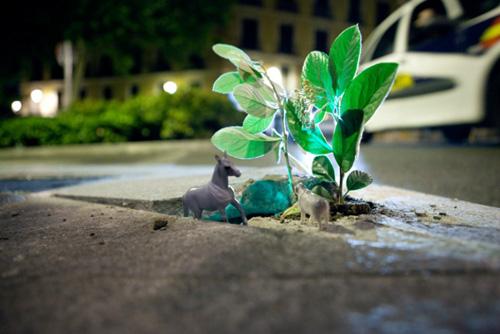 Guerrilla Gardening Luzinterruptus