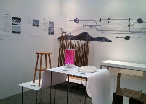 展示ブースでは作品のほか浜松の風土や産業を紹介するコーナーも