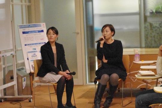 「東京キャンプ」岩崎さん(左)と「H.O.W」柿原さん(右)