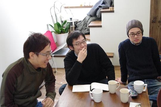 「いえつく」メンバーのみなさん。左から、角田大輔さん、穂積雄平さん、多田直人さん。