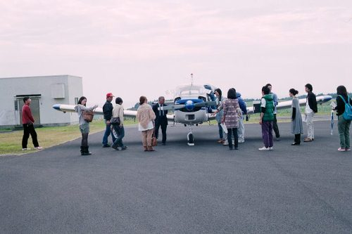 昔は遊覧のためのセスナが出ていた、枕崎空港。飛行機に乗せてもらえる嬉しいハプニングも。