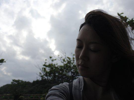 久高島にて。後藤サヤカさん