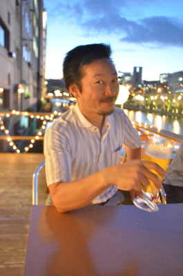 北浜水辺協議会事務局長の山根秀宣さん。