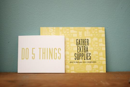 SF PREPに入っているDOカード。「なるべく多くの備えを集めろ!」