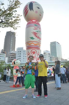 Yotta Grooveの木崎公隆さん、山脇弘道さんと記念撮影を。