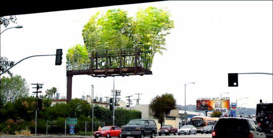 urban air 屋外広告を竹に