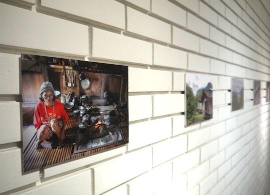開場には、カリンガ族の暮らしのわかる展示も。
