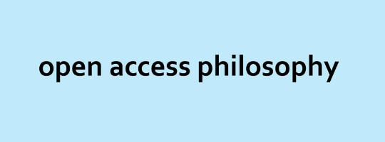 open access philosophy