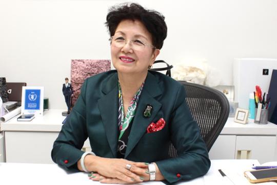 LOOM NIPPON代表の加賀美さん。LOOMでは、南三陸に3千本の桜を植樹しようとしています。