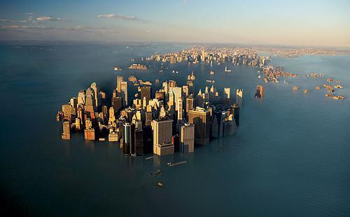 海面上昇で海に沈んだマンハッタン