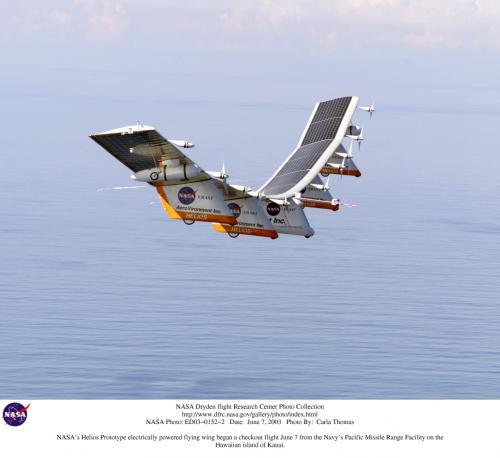 NASAのソーラー飛行機Helios